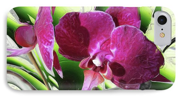 Purple Orchid IPhone Case by Hai Pham