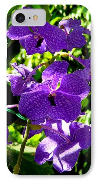 Purple Orchids Phone Case by Susanne Van Hulst