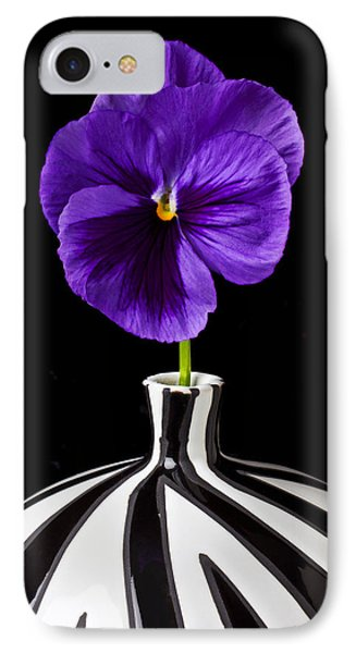 Purple Pansy Phone Case by Garry Gay
