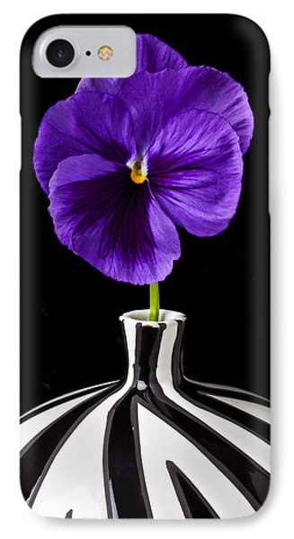 Purple Pansy IPhone Case by Garry Gay