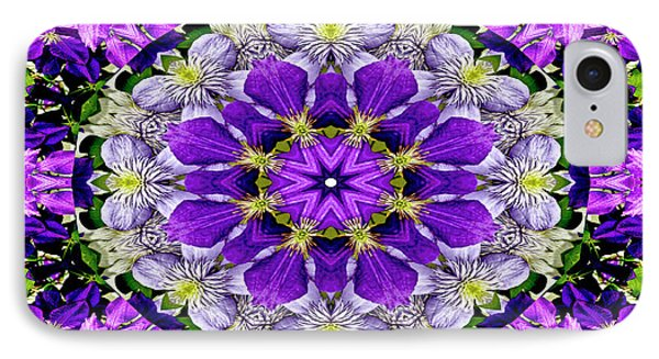 Purple Passion Floral Design IPhone Case