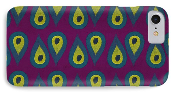 Purple Peackock Print  IPhone Case