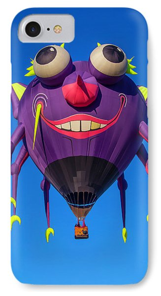Purple People Eater Floating IPhone Case by Garry Gay