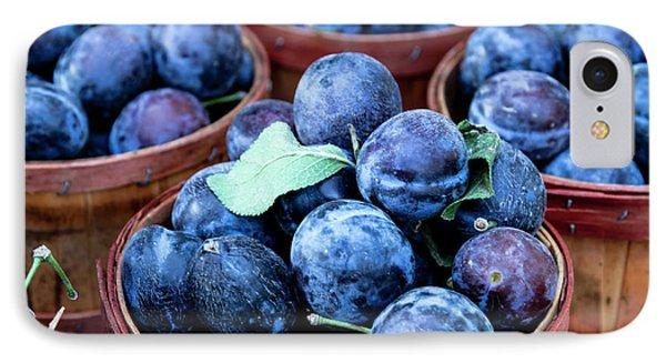 Purple Plums IPhone Case by Teri Virbickis