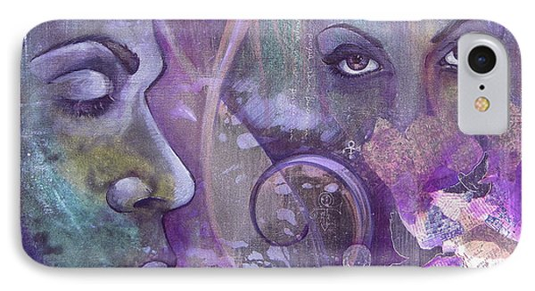 Dove iPhone 7 Case - Purple Rain by Shadia Derbyshire