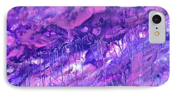 Purple Rain IPhone Case by T Fry-Green