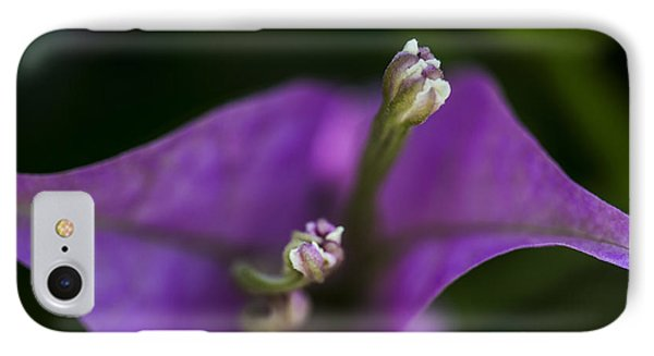 IPhone Case featuring the photograph Purple Rest Flower by Paula Porterfield-Izzo