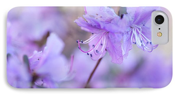 IPhone Case featuring the photograph Purple Rhododendron 1. Spring Watercolors by Jenny Rainbow
