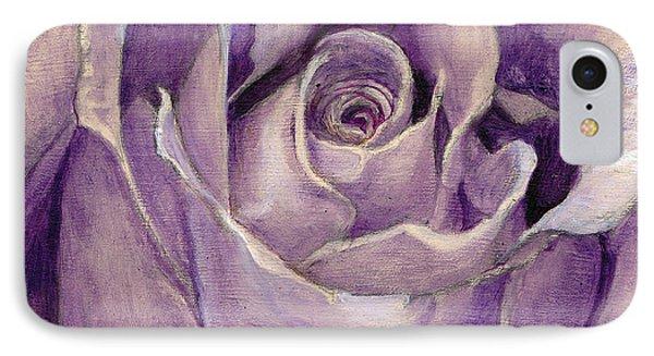 Purple Rose IPhone Case by Enzie Shahmiri