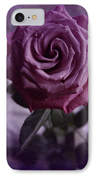 IPhone Case featuring the photograph Purple Rose Of December by Richard Cummings