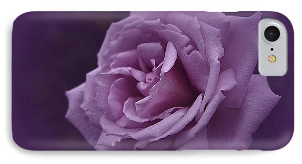 Purple Rose Of November IPhone Case by Richard Cummings