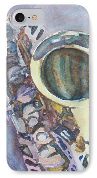 Purple Sax IPhone Case by Jenny Armitage
