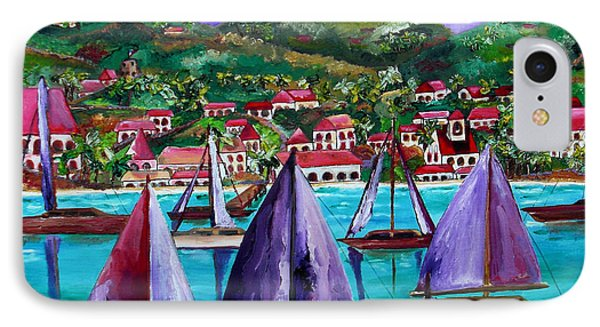 Purple Skies Over St. John Phone Case by Patti Schermerhorn