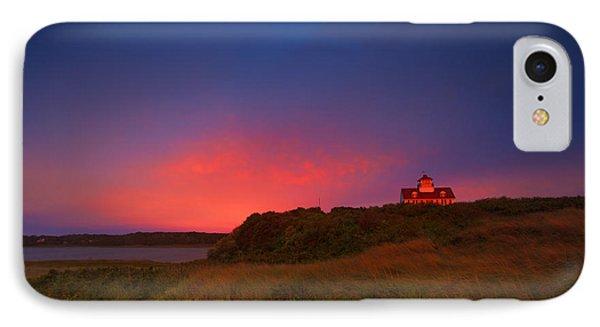Purple Sky Over Coast Guard Eastham Phone Case by Dapixara Art