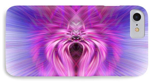 Purple Spider IPhone Case by Cherie Duran