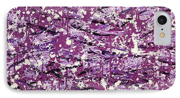 IPhone Case featuring the painting Purple Splatter by Thomas Blood