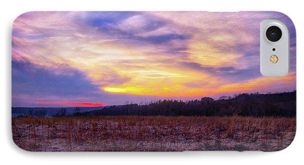 Purple Sunset At Retzer Nature Center IPhone Case by Jennifer Rondinelli Reilly - Fine Art Photography