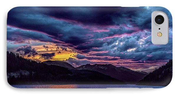 Purple Sunset At Summit Cove IPhone Case