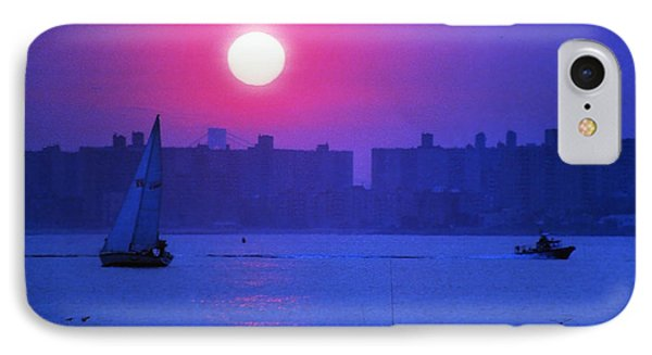 Purple Sunset Off Breezy Point Bayside IPhone Case by Maureen E Ritter