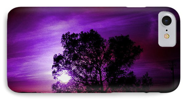 Purple Sunset Phone Case by Robert Ball