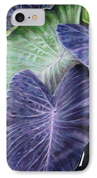 Purple Taro Phone Case by Sandra Blazel - Printscapes