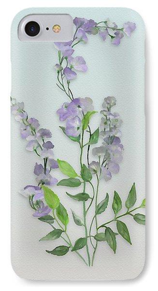 Purple Tiny Flowers IPhone Case by Ivana Westin