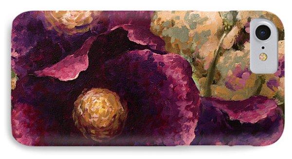 Purple Trio-flowers IPhone Case