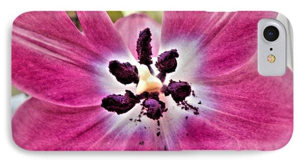 Purple Tulip IPhone Case by Nina Ficur Feenan