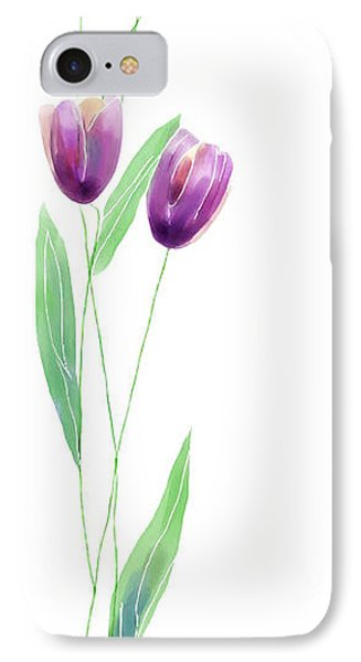 Purple Tulips Phone Case by Arline Wagner
