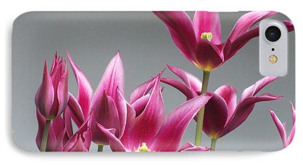 Purple Tulips IPhone Case by Helen Northcott