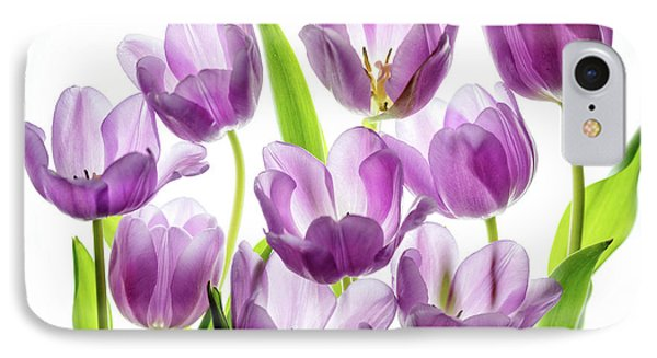 IPhone Case featuring the photograph Purple Tulips by Rebecca Cozart