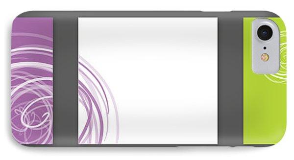 Purple Twirl Phone Case by Nomi Elboim