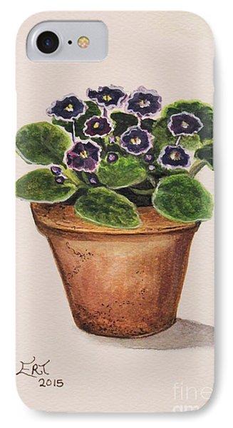 Garden iPhone 7 Case - Purple Violets by Elizabeth Robinette Tyndall