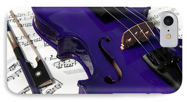 Purple Violin And Music V IPhone Case