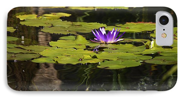 Purple Water Lilly Distortion Phone Case by Teresa Mucha