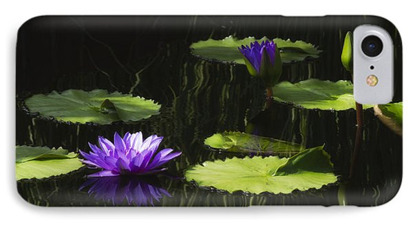 Purple Water Lily IPhone Case by Lindley Johnson