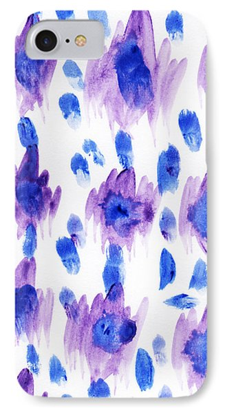 Purple Watercolor Ikat IPhone Case by Allyson Johnson