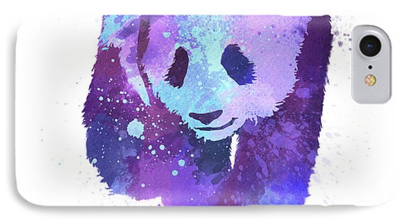 Purple Watercolor Panda IPhone Case by Thubakabra