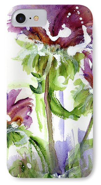 IPhone Case featuring the painting Purple Wildflowers by Dawn Derman