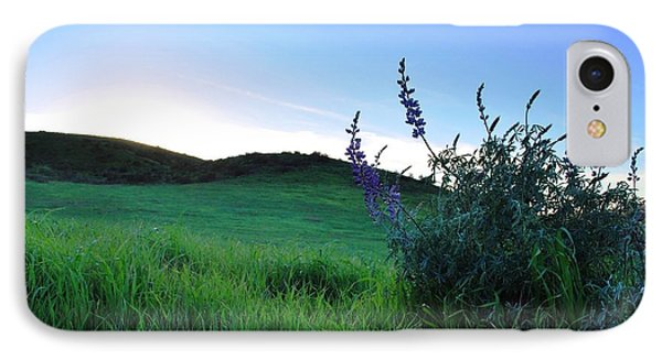 IPhone Case featuring the photograph Purple Wildflowers In Beautiful Green Pastures by Matt Harang