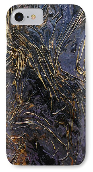 Purple With Texture IPhone Case by Angela Stout