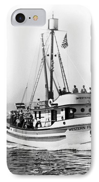 Purse Seiner Western Flyer On Her Sea Trials Washington 1937 IPhone Case by California Views Mr Pat Hathaway Archives