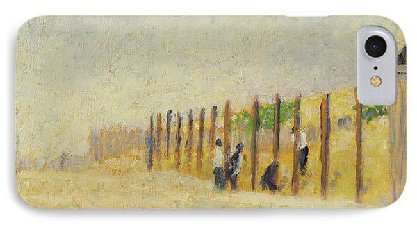 Pushing In The Poles IPhone Case by Georges Pierre Seurat