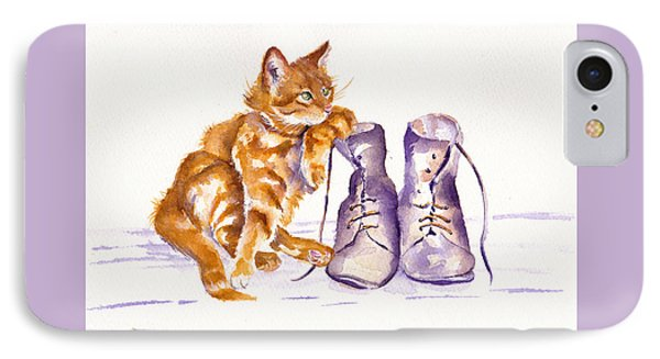 Cat iPhone 7 Case - Puss 'n Boots by Debra Hall
