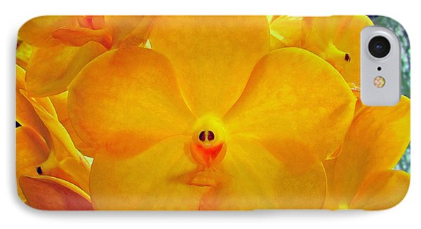 Put On A Happy Face Yellow Orchids IPhone Case