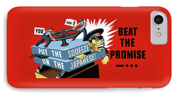 Put The Squeeze On The Japanese IPhone Case by War Is Hell Store