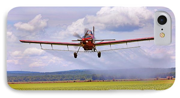 IPhone Case featuring the photograph Putting It Down - Ag Pilot - Crop Duster by Jason Politte