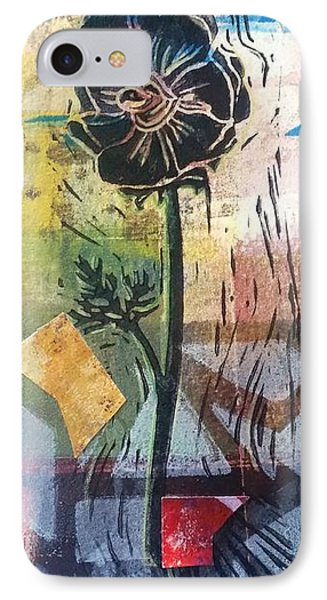 Puzzled Floral IPhone Case by Cynthia Lagoudakis