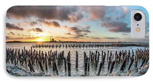 Pylons Mill Sunset IPhone Case by Greg Nyquist