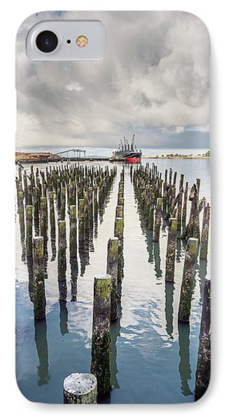 Pylons To The Ship IPhone Case by Greg Nyquist